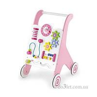 Ходунки каталка для девочек Viga Toys 50178