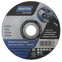 Круг отрезной Norton A60S 125x1x22.2 мм металл N20536513