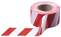 Лента сигнальная оградительная красно-белая 80мм 500м/п