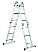 Лестница шарнирная WERK LC2412 4*3, длина 3,5/0,91 м, вес 11,2 кг BPS