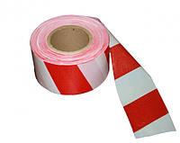Красно-белая сигнальная лента 80мм 500м/п