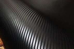 Карбоновая пленка 3D черный с микроканалами 100х152 см. текстура крупная 2,5*4 мм.