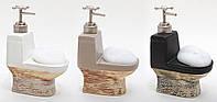 Дозатор для жидкого мыла с губкой 19см Код:115543