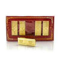 Набор золотых слитков (5шт) 14см Код:121667