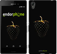 "Чехол на Sony Xperia Z3+ Dual E6533 Черная клубника ""3585c-165-716"""