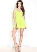 Платье с вырезом сердечком на спине, салатовое, фото 3