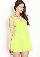 Платье с вырезом сердечком на спине, салатовое, фото 4