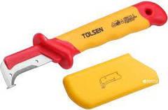 Нож диэлектрический для снятия изоляции с пяткой Tolsen V51416