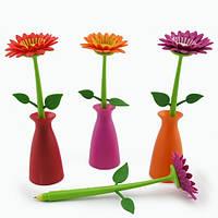 Ручка Цветок Гербера в вазе Код:108484