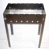 Мангал разборной +  6 шампуров (комплект) 1.5мм Код:102156