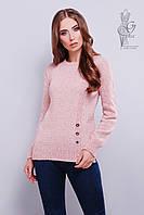 Стильные женские свитера Альбина-4 из шерстяной меланжевой нити