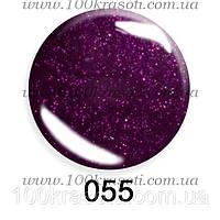 Гель-лак G.La Color, 10ml, цвет №055 (темный вишнево-сливовый с микроблеском), фото 1
