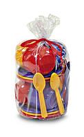 Набір посуду, (18 дет.), в пакете 15*10см, ТМ Юніка, Україна (50шт)(0163)