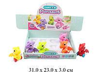 """Заводная игрушка """"Динозаврики"""", цена за блок, 6 видов, 12шт в боксею 20*33,5см (40шт/2)(6619)"""
