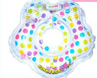 Круг для купания младенцев Конфетти (рисунок в разноцвет. гооршек), цвет белый, Kinderenok(240913-030)