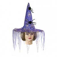 Шляпа Ведьмы с пауками Код:118735