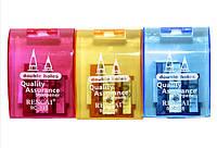 Точилка пластиковая с контейнером, на 2 карандаша, короткий и длинный (36шт/уп)(RC828)