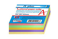Бумага для заметок, цветная, 9*9*4,5см(A3000)
