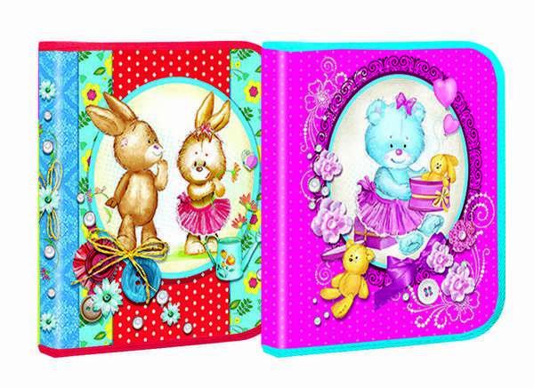 Папка для тетрадей Cute and lovely В5, картонная, Мультяшки 2015, 24*21,5см. (12шт/уп)(7514) - ИГРОДОМ в Днепре