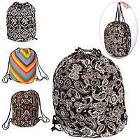 Сумка, рюкзак для обуви, 1отд.на затяжке, микс видов, в пак. 41-40см  (72шт)(MK1279)