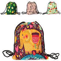 Сумка, рюкзак для обуви, 1отд.на затяжке, 6видов, в пак. 41-34см  (72шт)(MK1282)
