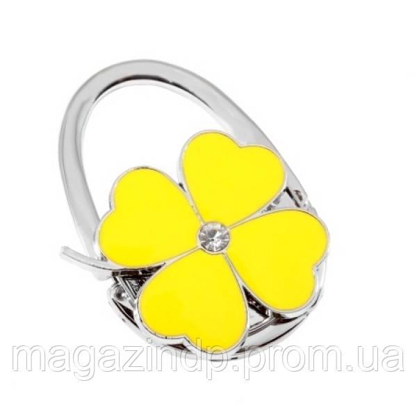 Сумкодержатель сумочка цветок клевера желтый Код:105279 - Интернет-магазин У Фёдора в Днепре