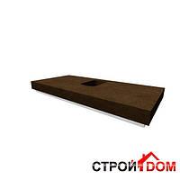 Столешница под раковину, отверстие для сифона в центре Keramag Silk 816300 (натуральный шпон венге пангар)