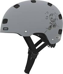 Велошлем  ABUS SCRAPER KID v.2 grey ride (S)