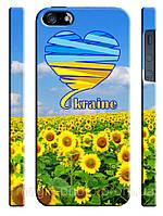 Чехол для iPhone 5/5s Украина в подсолнухах