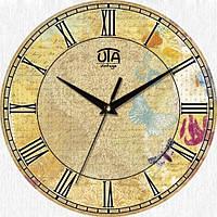 Настенные Часы Vintage Абстракция с бабочками Код:117847