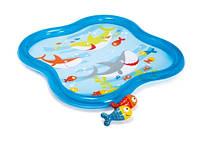 Бассейн детский, с фонтанчиком 140*140*11см (6шт)(57126)