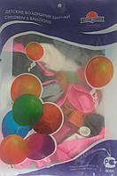 """Шарики Металлик 12"""", """"Детский рисунок"""", цена за уп., в уп. шт., в пак. 28*17см, ТОВ """"Мир шаров""""(410-0011)"""