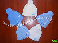 Детские зимние шапки оптом. Шерстяная шапка для мальчика р.42-44 см, 50% шерсть