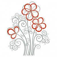 Виниловая Наклейка Flowers Код:105706