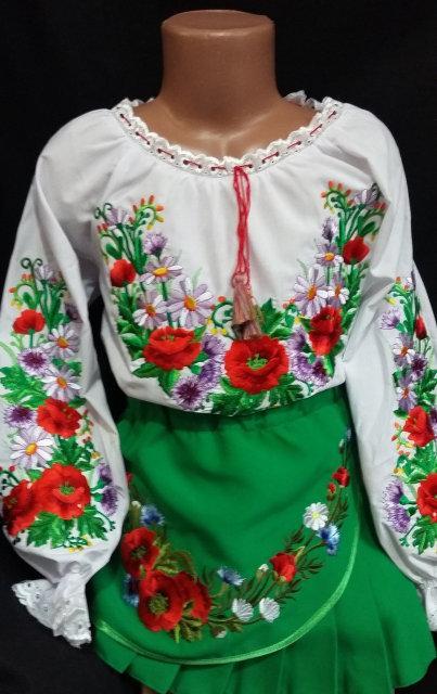 Детские вышиванки для девочек