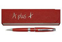 Ручка шариковая, красная, логотип на широком кольце(A-138)