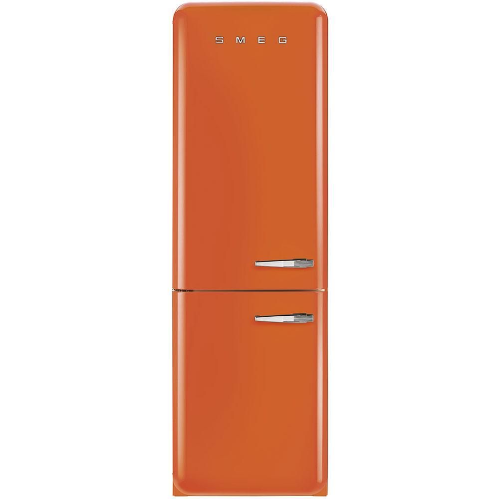 Отдельностоящий двухдверный холодильник, стиль 50-х годов Smeg FAB32LOR3 оранжевый