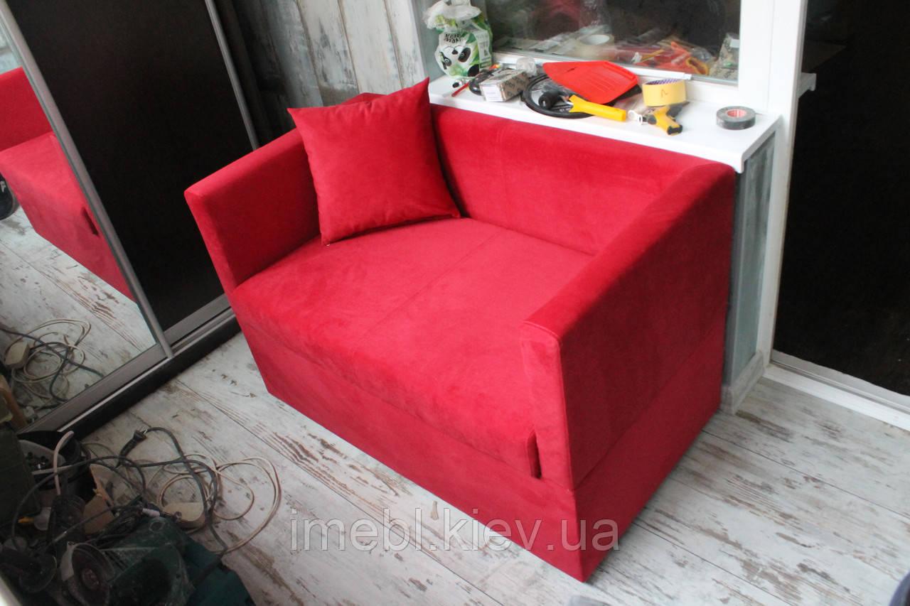 Диванчик з ящиком на балкон або лоджію (Червоний)