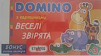 """Игра эконом., наст. Домино""""Веселые зверята"""", в кор.35,3*20*3см, произ-во Украина, ТМ Стратег (20шт)(747S)"""