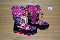 Зимние термо - сапожки на девочку вышиванки размеры 32, 34