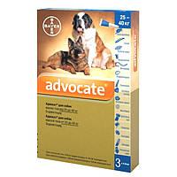 Bayer Адвокат капли для профилактики и лечения заражения эндо- и экто-паразитами собак более 25кг, 1 пипетка