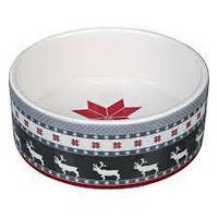 Trixie TX-92475  рождественская миска из керамики для собак и кошек 0,8 л / ø 16 см