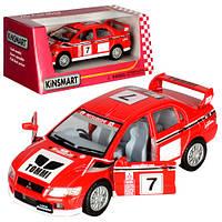 "Машина метал. ""Kinsmart"" ""Mitsubishi Lancer Evolution VII (WRC)"" в кор. 16*8,5*7,5см /96шт/4/(KT5048W)"