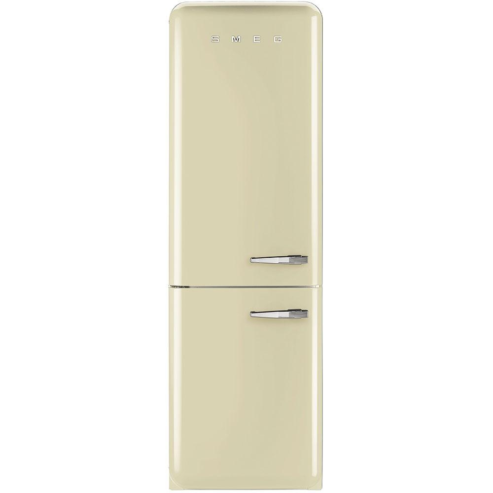Отдельностоящий двухдверный холодильник, стиль 50-х годов Smeg FAB32LCR3 кремовый