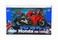 Мотоцикл Welly, HONDA 2009 CBR1000RR, метал., масштаб 1:10, в кор. 27*16*11см (6шт)(62804W)
