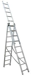 Лестница универсальная Forte СЕ 3х9 - 3*9 ступ., длина 5,92/2,56 м, вес 15,5 кг BPS