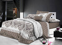 Ткань постельная 143039 Сатин (ПАК) НАБ. Cy-651 Front Brown 220СМ