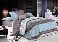 Ткань постельная 143040 Сатин (ПАК) НАБ. Cy-667 Front Blue 220СМ