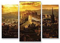 Модульная картина крепость в городе