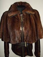 Кожаная куртка с норкой . норковая куртка